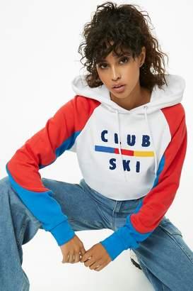Forever 21 Club Ski Colorblocked Hoodie