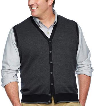 Van Heusen Y Neck Sweater Vest Big and Tall