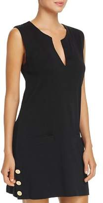 Ralph Lauren Button Tunic Swim Cover-Up