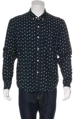 Band Of Outsiders Geometric Print Woven Shirt