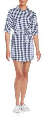 Noho Gingham Cotton Shirtdress $108 thestylecure.com