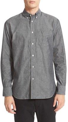Men's Rag & Bone Trim Fit Chambray Shirt $195 thestylecure.com