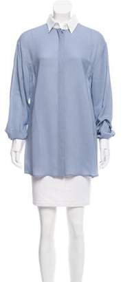 Philosophy di Alberta Ferretti Long Sleeve Button-Up Top w/ Tags