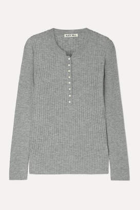 Alex Mill Ribbed Wool-blend Top - Gray
