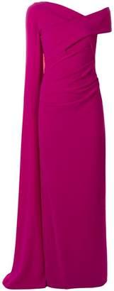Talbot Runhof long cape sleeve gown