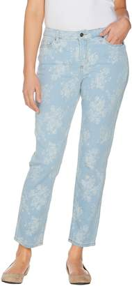 Women With Control Women with Control Regular My Wonder Denim Bleached Floral Jacquard Jeans