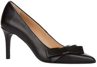 Claudie Pierlot Leather Bow Pumps 85