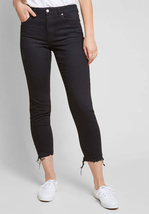 Eunina, Incorporated Distress to Impress Cropped Jeans