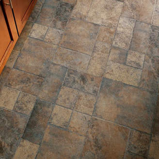 Armstrong Flooring Stones and Ceramics 15.94 x 47.75 x 8.3mm Tile Laminate Flooring in Weathered Way Earthen Copper