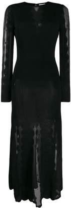 Alexander McQueen sheer panels midi dress
