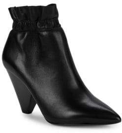 Ash Dafne Rouched-Ankle Leather Booties