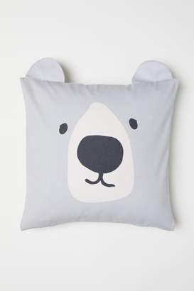 H&M Cotton Twill Cushion Cover - Gray