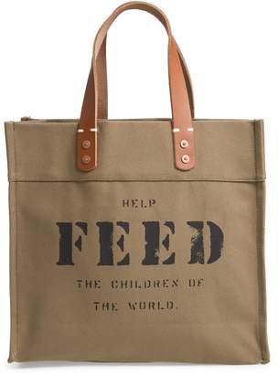 FEED Market Canvas Tote