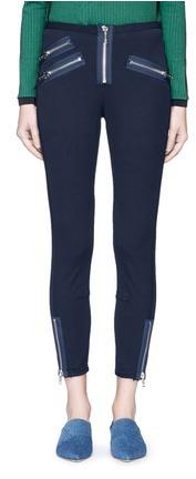 3.1 Phillip Lim3.1 Phillip Lim Zip cuff cotton-modal moto leggings