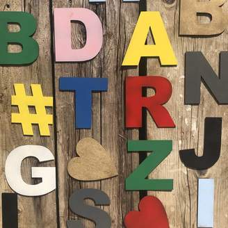 Warehouse THE RUSTIC Five Inch Coloured Metal Letters Sign Make Any Word