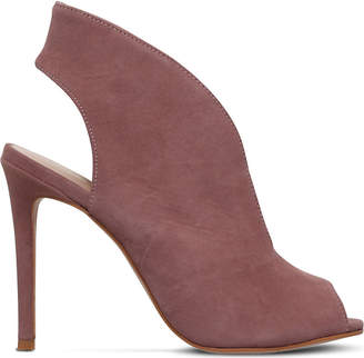 Kurt Geiger London Dayna V-front suede booties