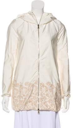 Moncler Hooded Zip-Up Jacket