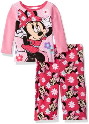 Disney Girls' Minnie Mouse 2-Piece Fleece Pajama Set