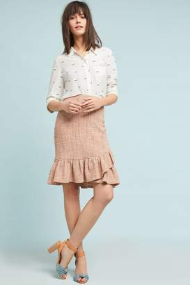 Anthropologie Wrapped Tweed Skirt