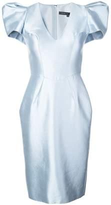 Rubin Singer structured shoulder cocktail dress