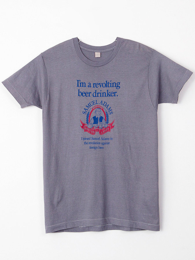 American Apparel Vintage Revolting Beer Drinker T-Shirt