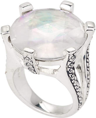 Stephen Dweck Sterling Silver Crystal Quartz Ring Size 7