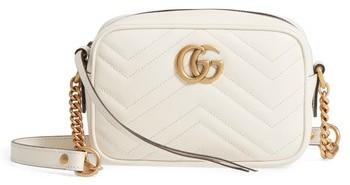 Gucci Gg Marmont 2.0 Matelasse Leather Shoulder Bag - White