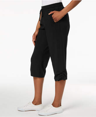 Style&Co. Style & Co Ruched Capri Jogger Pants, Created for Macy's