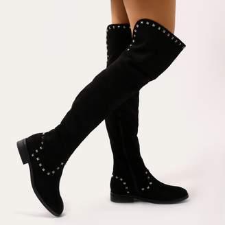9fb99e6b3ee Public Desire Black Faux Suede Boots For Women - ShopStyle UK