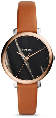 Fossil Jacqueline Three-Hand Luggage Leather Watch