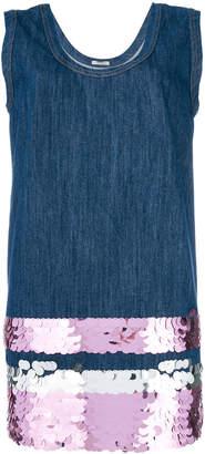 Miu Miu sequin-embellished denim mini dress