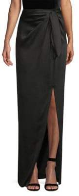 St. John Liquid Crepe Draped Long Skirt