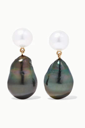 Sophie Bille Brahe Venus 14-karat Gold Pearl Earrings - one size