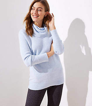 LOFT Petite Cowl Neck Tunic Sweater