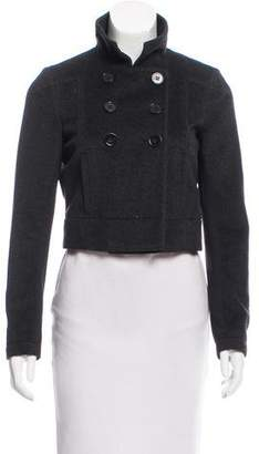 Theory Cropped Double-Breasted Jacket