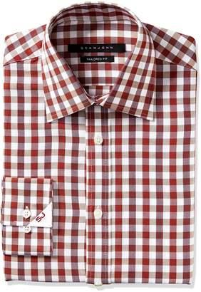 Sean John Men's Tailored Fit Gingham Shirt