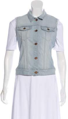 J Brand Denim Button Up Vest
