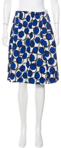 Kate SpadeKate Spade New York Printed Knee-Length Skirt