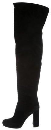 pradaPrada Suede Over-The-Knee Boots