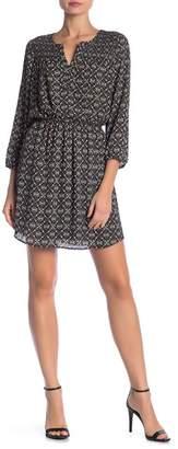 Daniel Rainn DR2 by Textured Yoke Smock Dress
