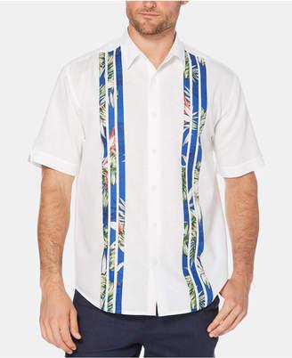 Cubavera Men's Printed Striped Short-Sleeve Linen Shirt