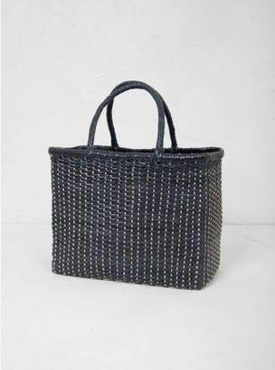 Dragon Optical Woven Basket Bag