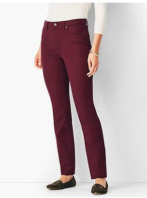 Talbots High-Rise Straight-Leg Jean - Merlot