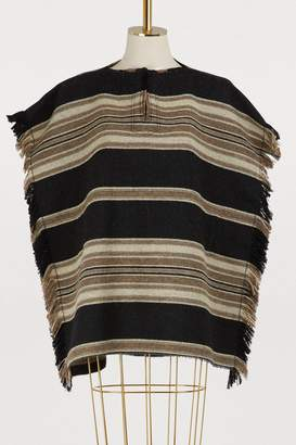 Isabel Marant Hollis virgin wool poncho