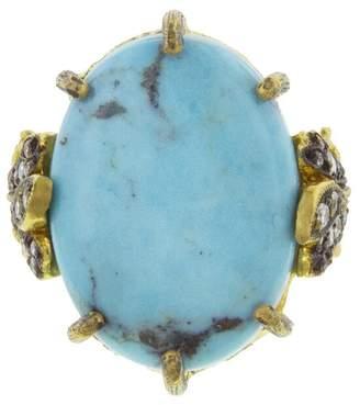 Cathy Waterman Kingman Turquoise Leaf Ring
