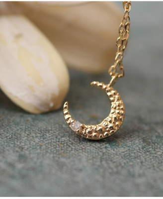 Anémone (アネモヌ) - Ane Mone (W)ダイヤを宿した三日月ネックレス[10金] アネモネ アクセサリー