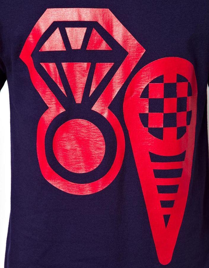 ICECREAM T-shirt Cone & Ice Print
