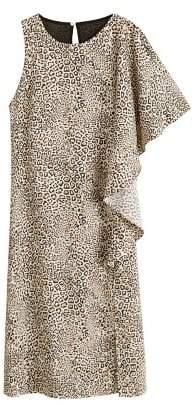 MANGO Leopard midi dress