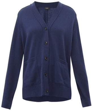 Joseph Patch Pocket Cashmere Cardigan - Womens - Dark Blue