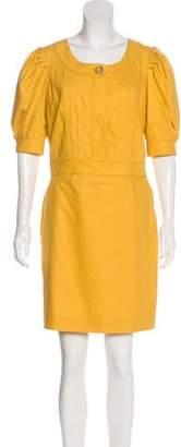 Chloé Pleated Sheath Dress